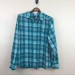 North Face Plaid Flannel Roll Tab Sleeve Shirt